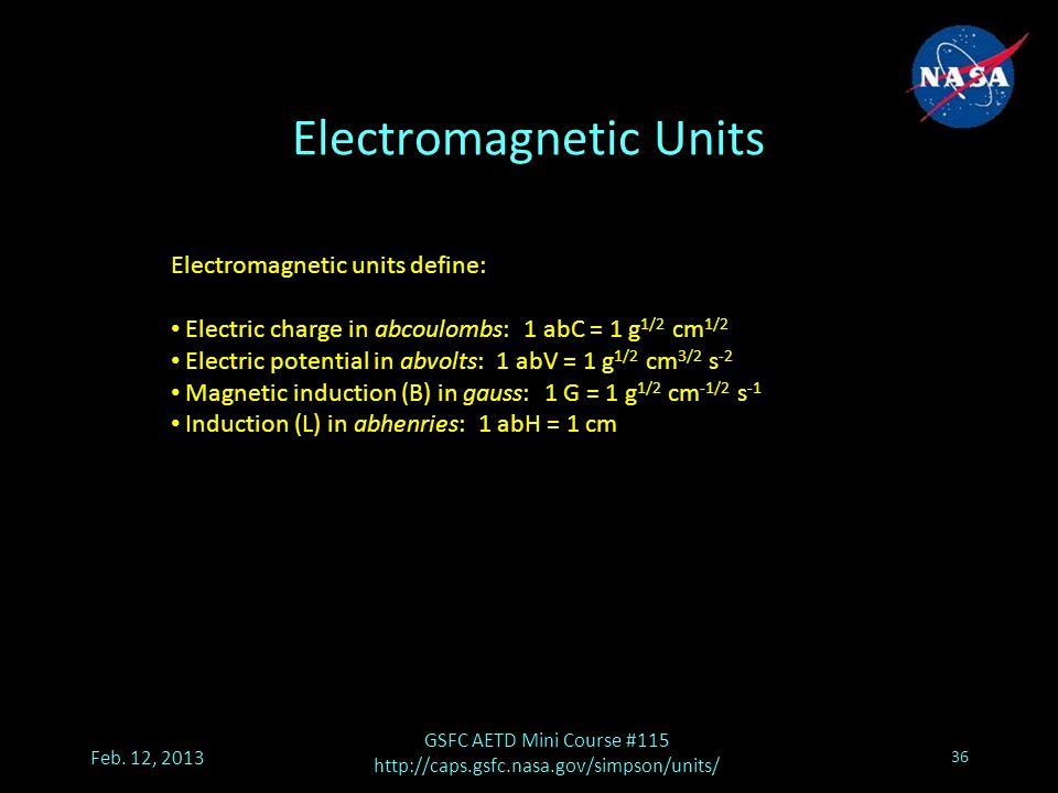 Electromagnetic Units Feb.