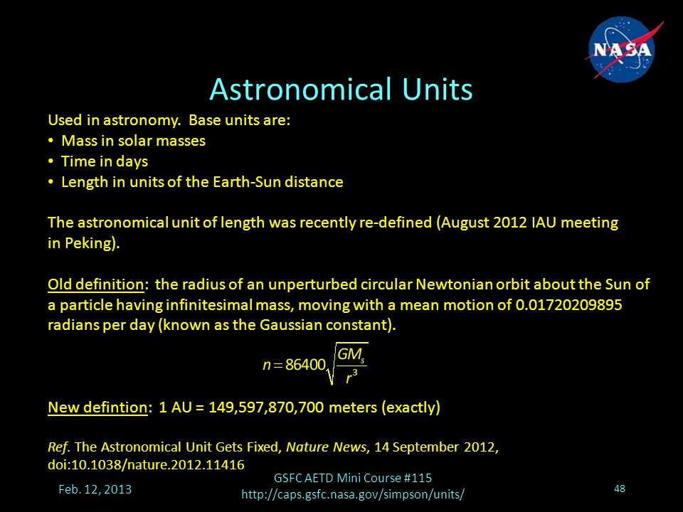 Astronomical Units Feb.