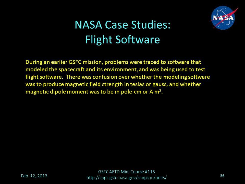 NASA Case Studies: Flight Software Feb.