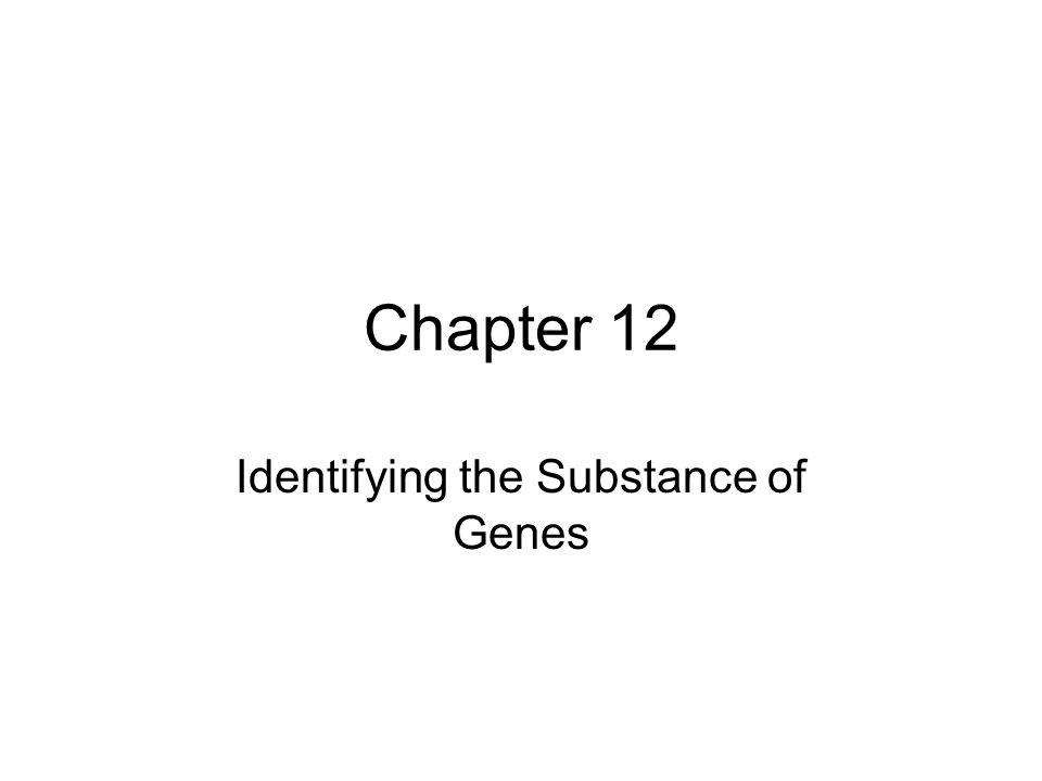 Chapter 12 Identifying the Substance of Genes