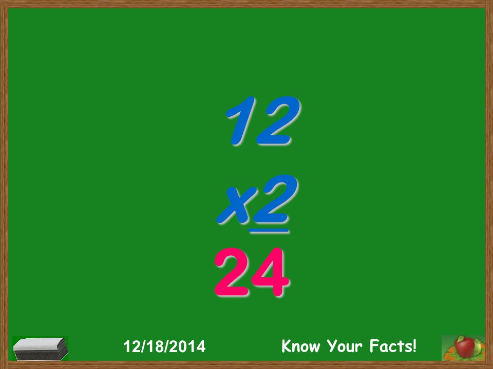 12 x2 24 12/18/2014 Know Your Facts!