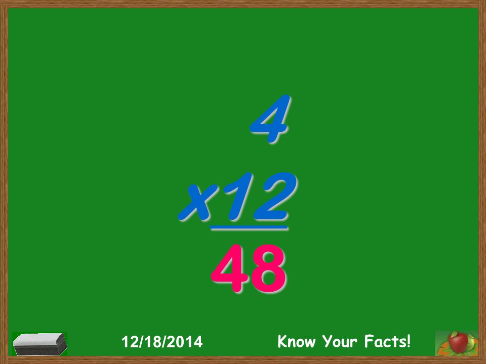 4 x12 48 12/18/2014 Know Your Facts!