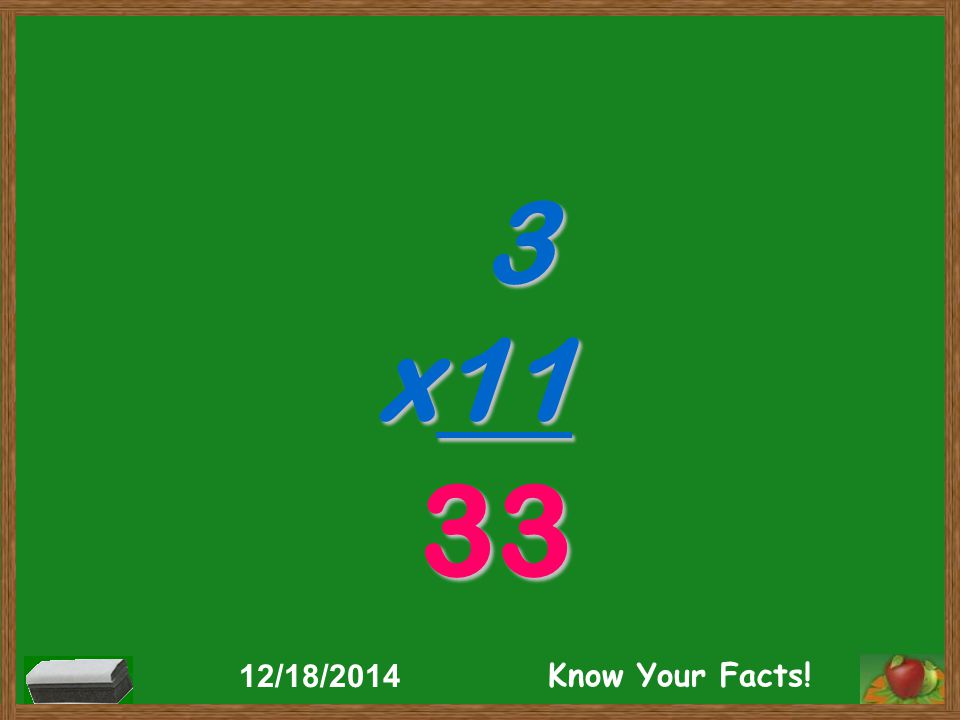 3 x11 33 12/18/2014 Know Your Facts!