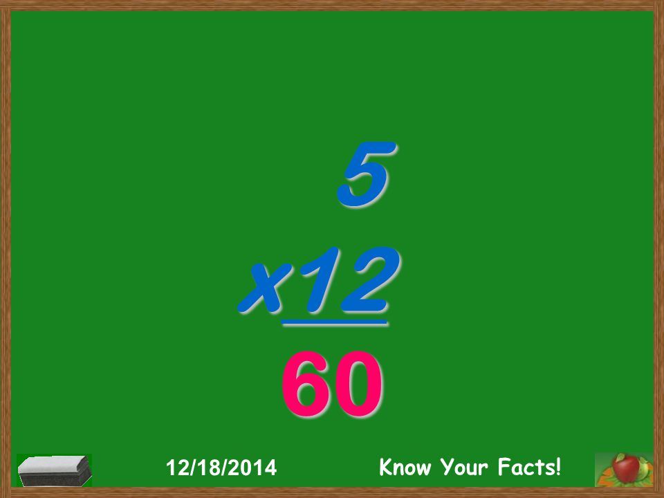 5 x12 60 12/18/2014 Know Your Facts!