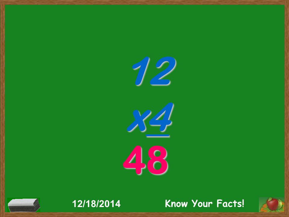3 x12 36 12/18/2014 Know Your Facts!