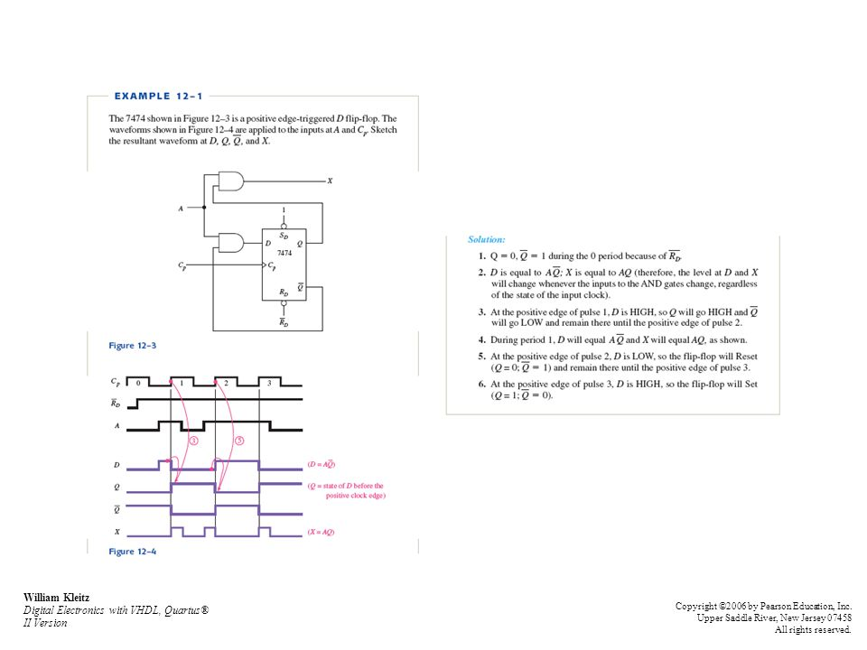 William Kleitz Digital Electronics with VHDL, Quartus® II Version Copyright ©2006 by Pearson Education, Inc.