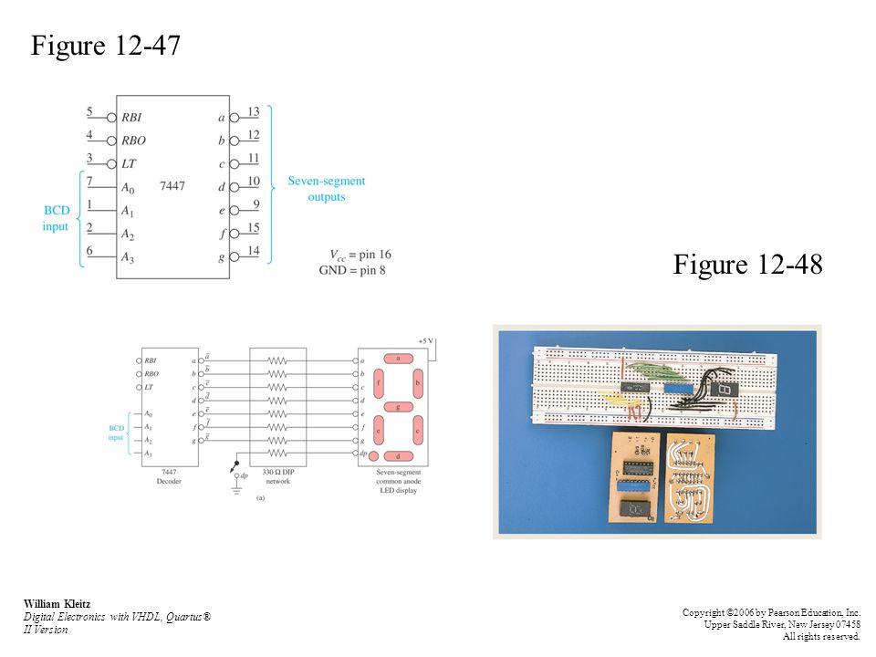 Figure 12-47 Figure 12-48 William Kleitz Digital Electronics with VHDL, Quartus® II Version Copyright ©2006 by Pearson Education, Inc.