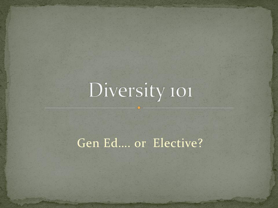 Gen Ed…. or Elective