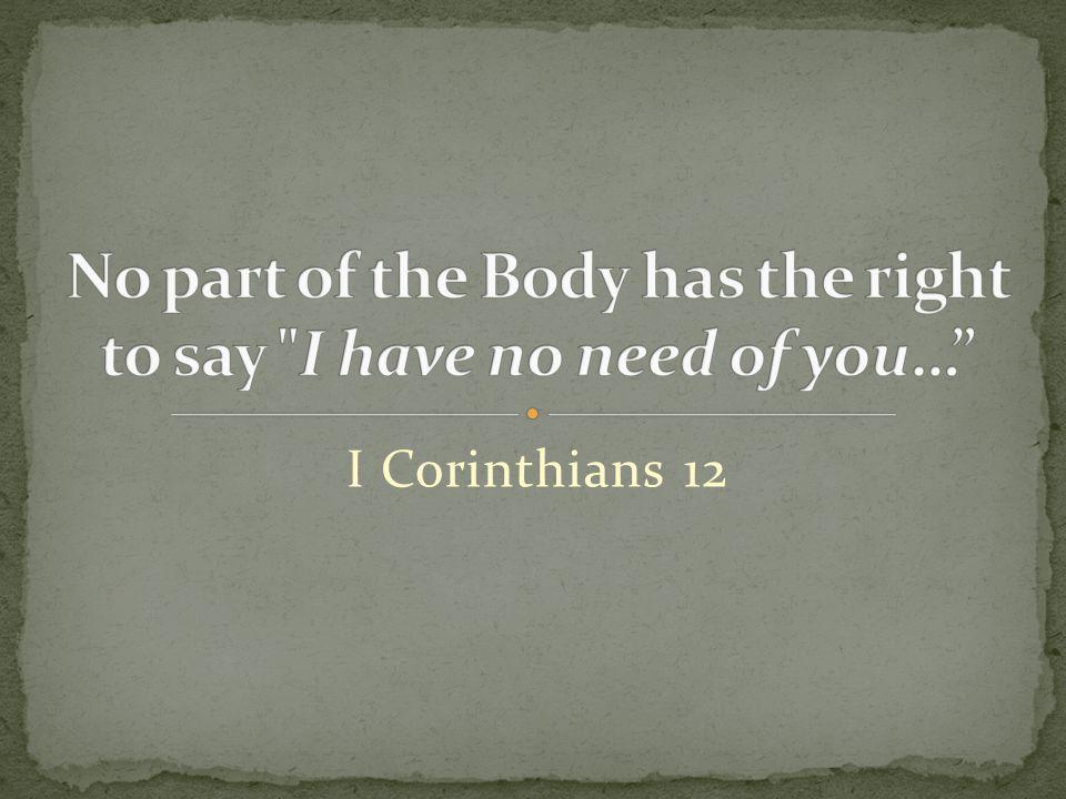 I Corinthians 12