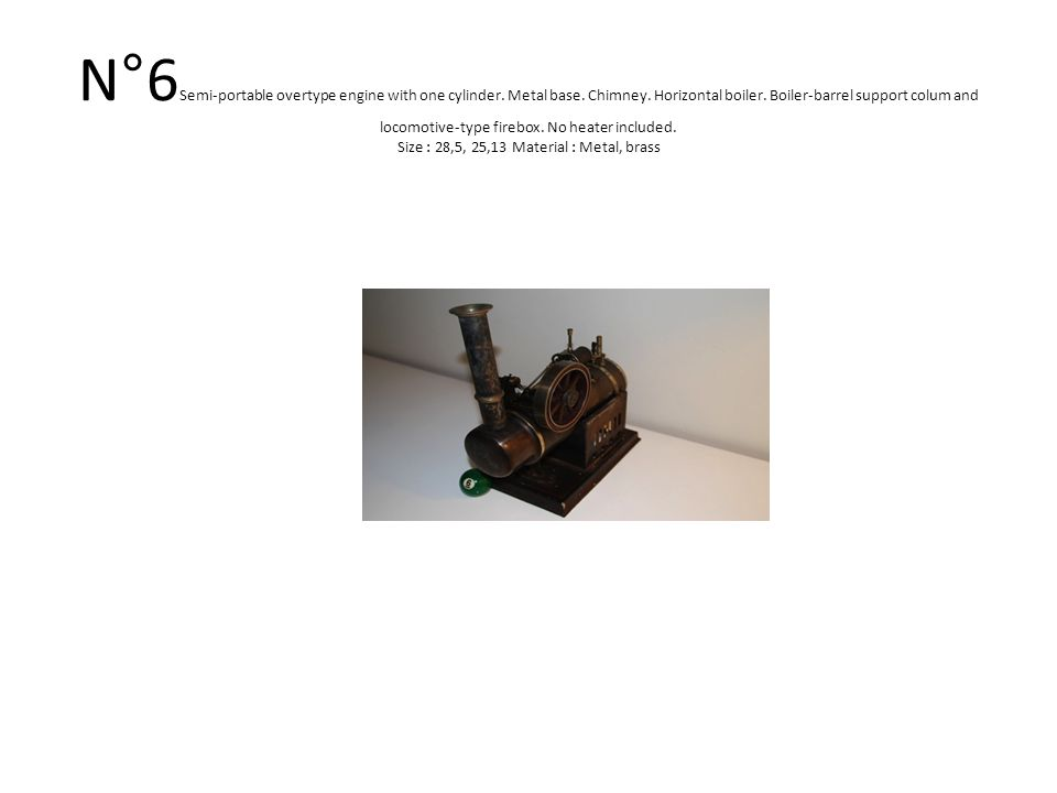 N°45 BING Horizontal engine with openworked boiler with oscillating cylinder, chimney, heater included.