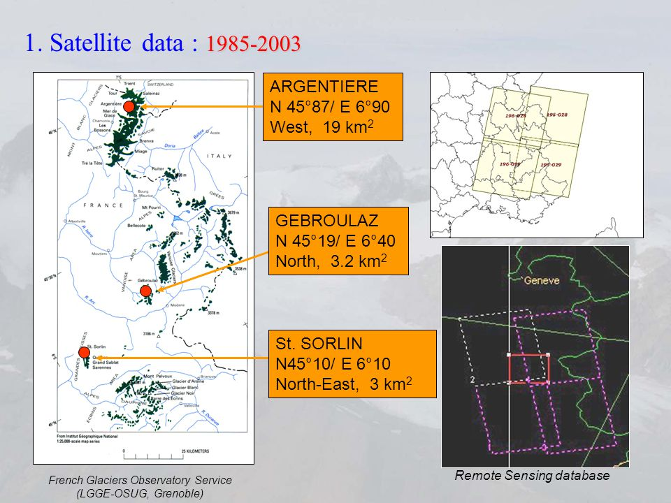 Remote Sensing processing (optical and SAR data) SPOT-Image 26/08/2000 © SPOT-Image 26/08/2000 © Radarsat 26/10/1996 Raw Image D.E.M.