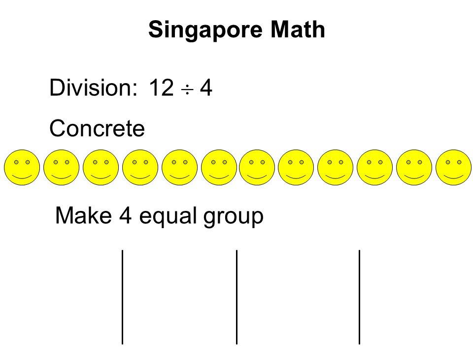 Singapore Math Division: Concrete 12  4 Make 4 equal group