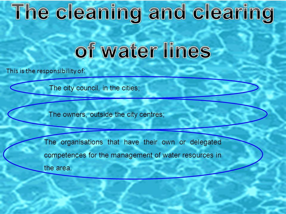 The legal framework, regulated by the Decree-Law 226-A/2007, 31st of May, left aside the cleaning and clearing of the water lines.