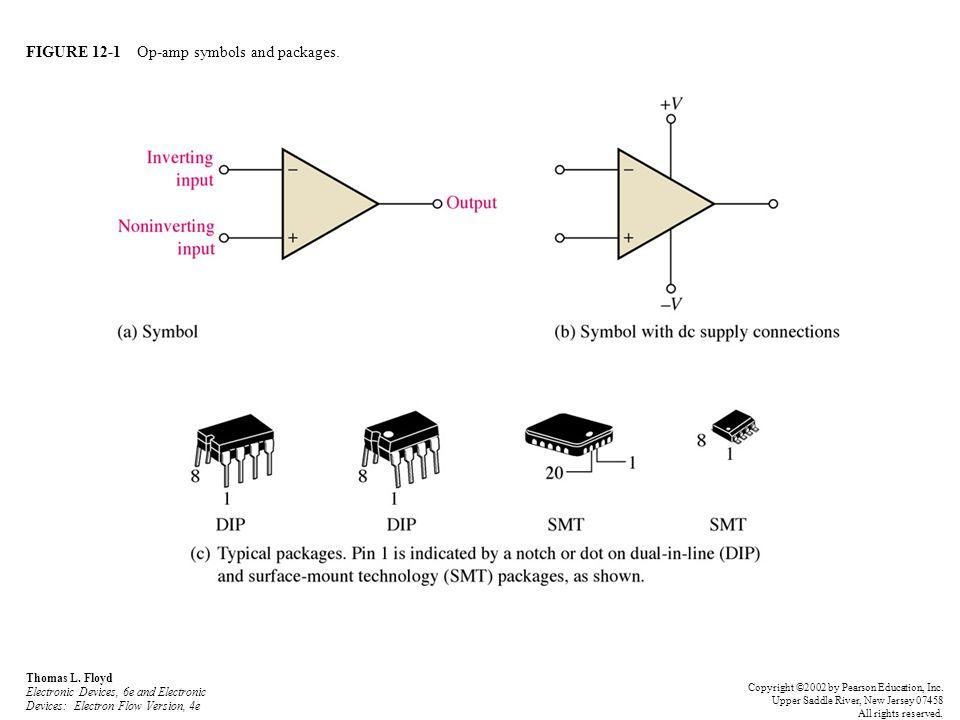 FIGURE 12-1 Op-amp symbols and packages. Thomas L. Floyd Electronic Devices, 6e and Electronic Devices: Electron Flow Version, 4e Copyright ©2002 by P