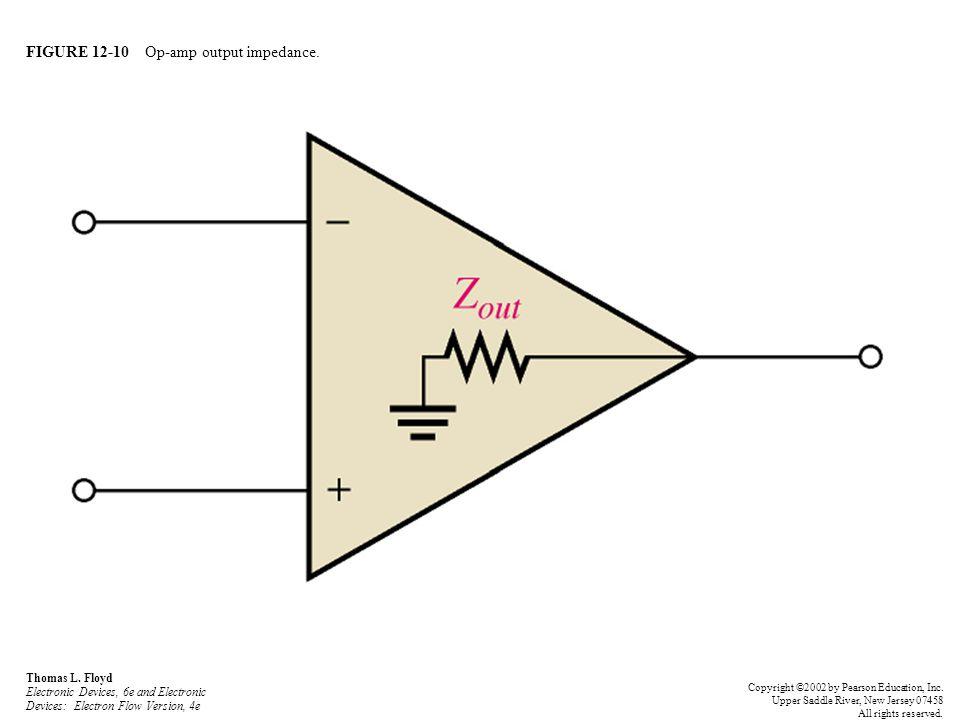 FIGURE 12-10 Op-amp output impedance. Thomas L. Floyd Electronic Devices, 6e and Electronic Devices: Electron Flow Version, 4e Copyright ©2002 by Pear