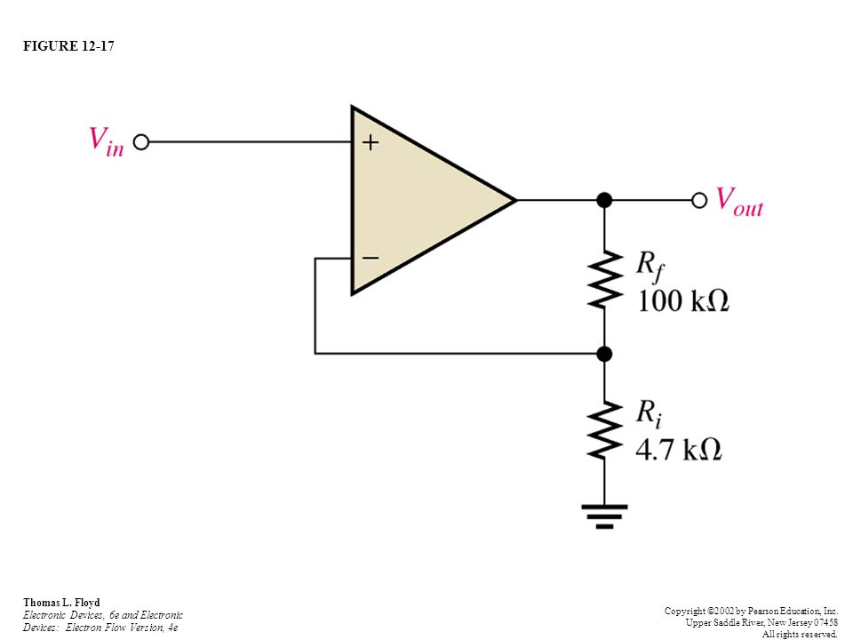 FIGURE 12-17 Thomas L. Floyd Electronic Devices, 6e and Electronic Devices: Electron Flow Version, 4e Copyright ©2002 by Pearson Education, Inc. Upper
