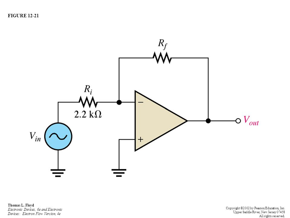 FIGURE 12-21 Thomas L. Floyd Electronic Devices, 6e and Electronic Devices: Electron Flow Version, 4e Copyright ©2002 by Pearson Education, Inc. Upper