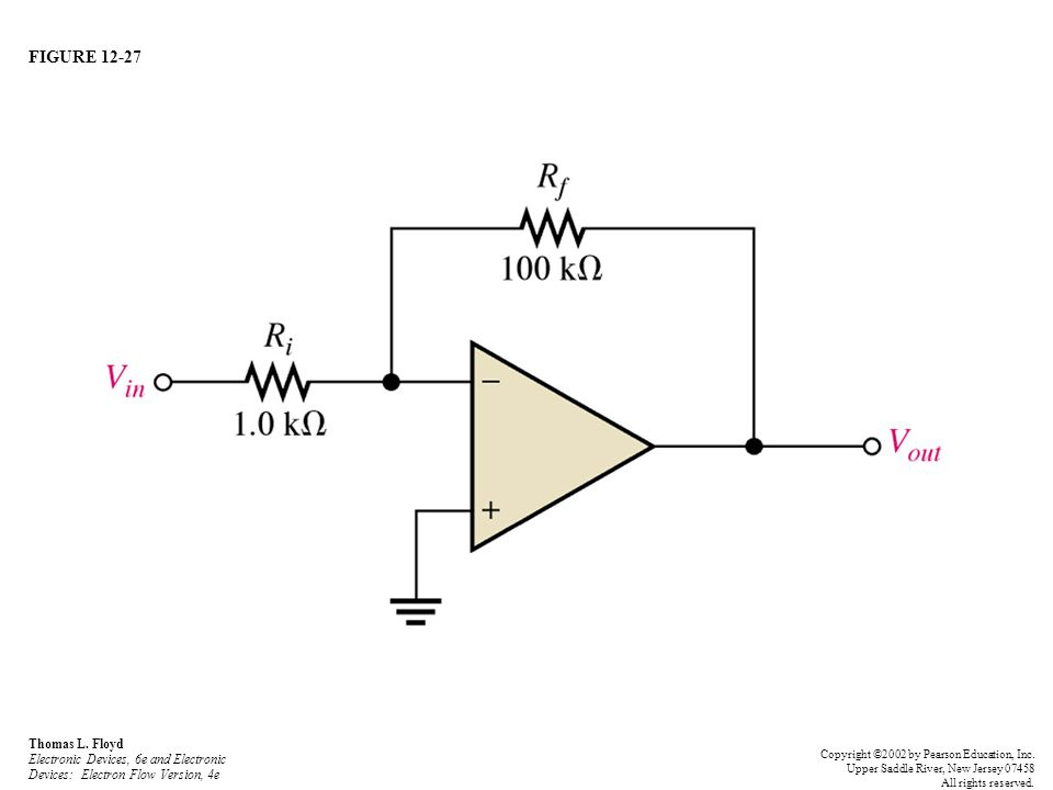 FIGURE 12-27 Thomas L. Floyd Electronic Devices, 6e and Electronic Devices: Electron Flow Version, 4e Copyright ©2002 by Pearson Education, Inc. Upper