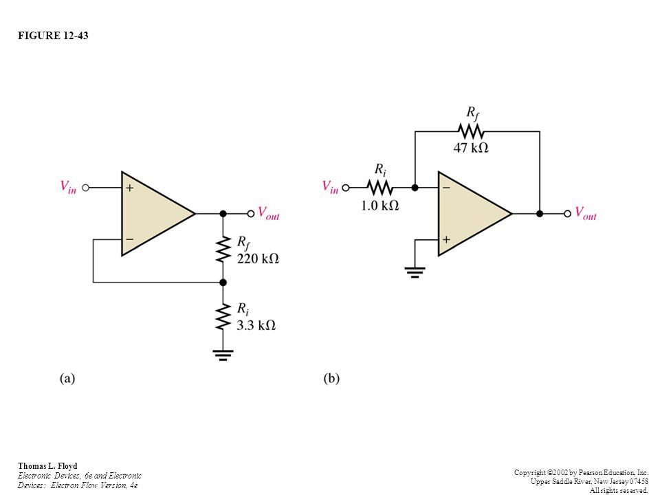 FIGURE 12-43 Thomas L. Floyd Electronic Devices, 6e and Electronic Devices: Electron Flow Version, 4e Copyright ©2002 by Pearson Education, Inc. Upper
