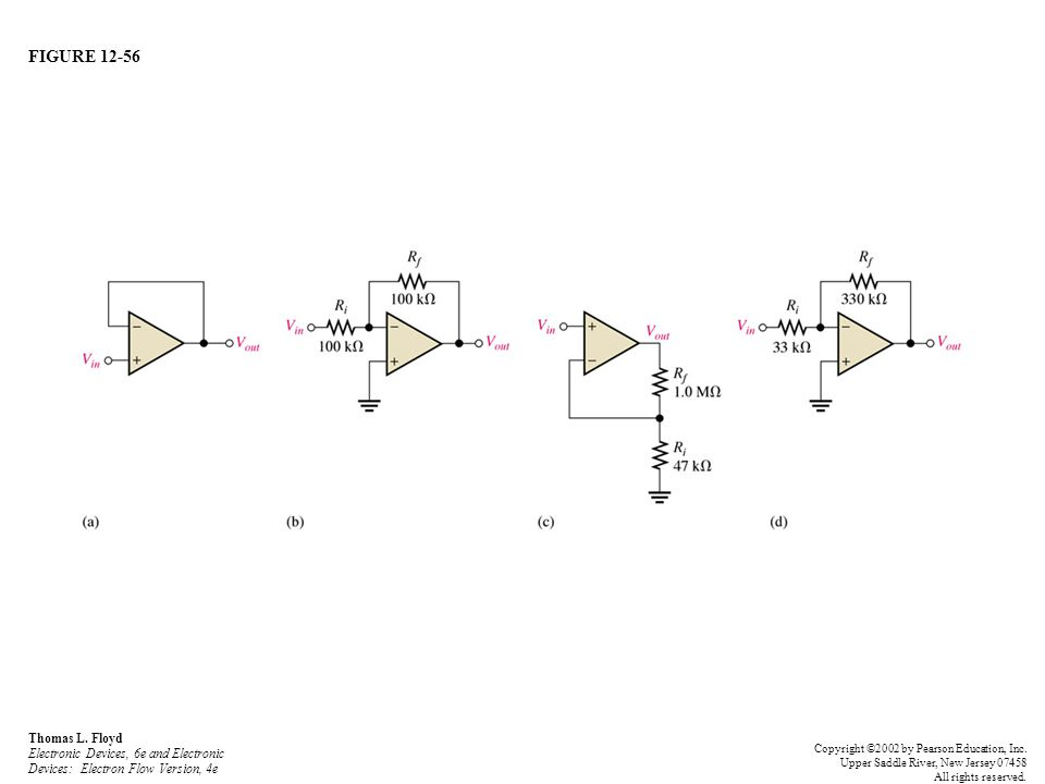 FIGURE 12-56 Thomas L. Floyd Electronic Devices, 6e and Electronic Devices: Electron Flow Version, 4e Copyright ©2002 by Pearson Education, Inc. Upper