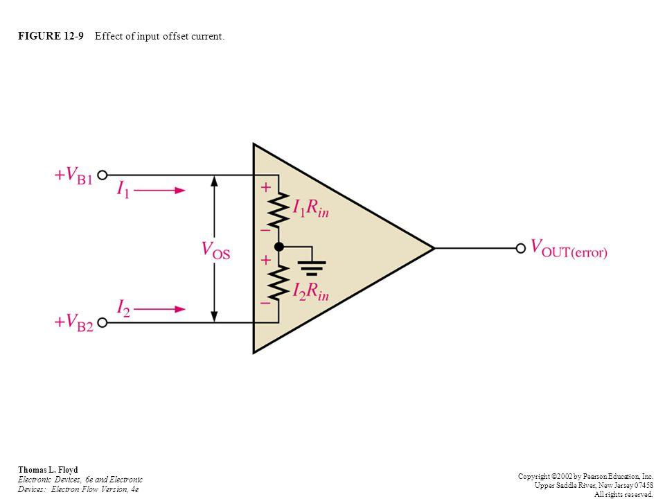 FIGURE 12-30 Input bias current creates output error voltage in noninverting amplifier.
