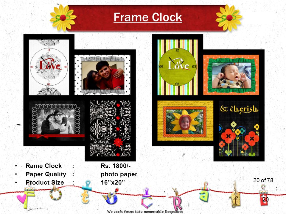 20of 51 Frame Clock Product Size:16 x20 Rame Clock:Rs.