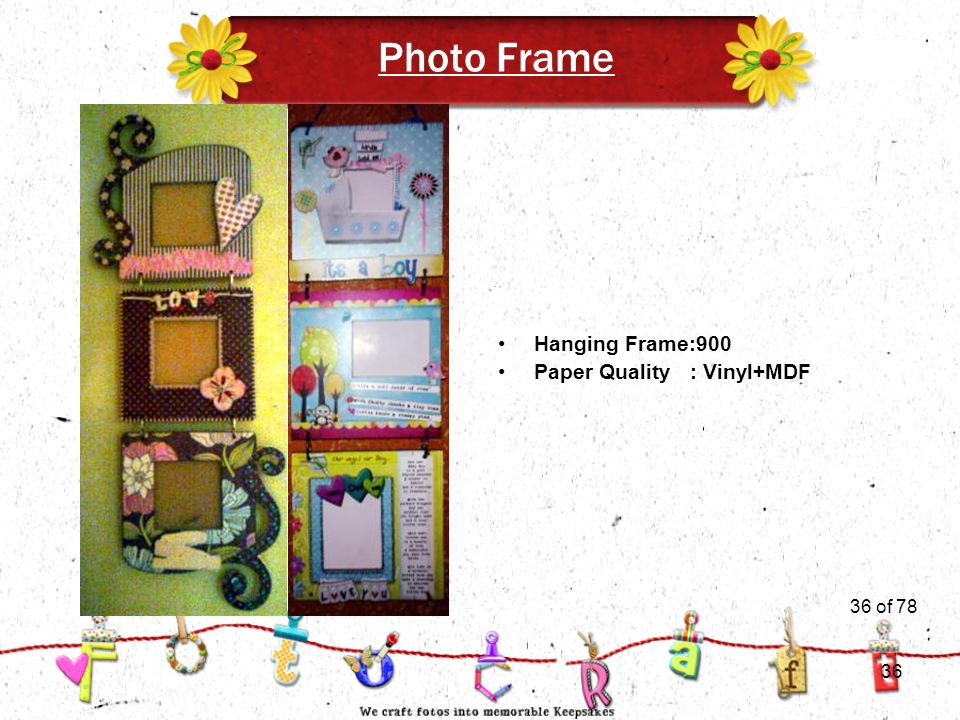 36of 51 Photo Frame Hanging Frame:900 Paper Quality : Vinyl+MDF 36 of 78 36