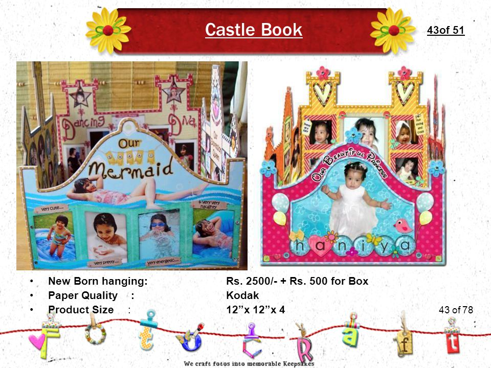 43of 51 Castle Book Product Size:12 x 12 x 4 New Born hanging:Rs.