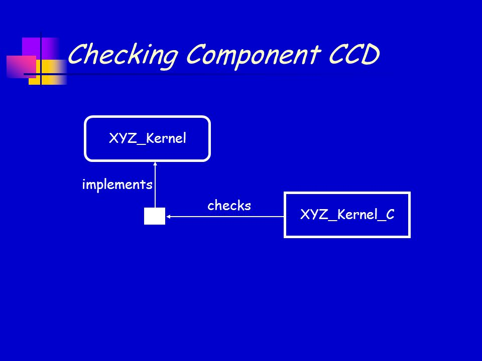 Checking Component CCD implements checks XYZ_KernelXYZ_Kernel_C