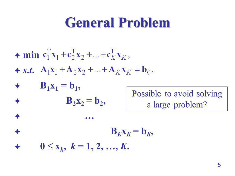 6 A Numerical Example  Problem P2:  min–3x 1 – 2x 2 – 2x 3 – 4x 4,  s.t.