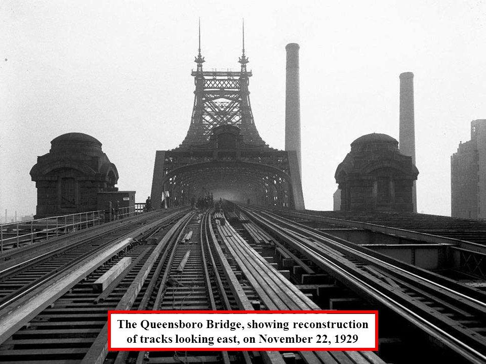 Queensboro Bridge under construction, on August 8, 1907