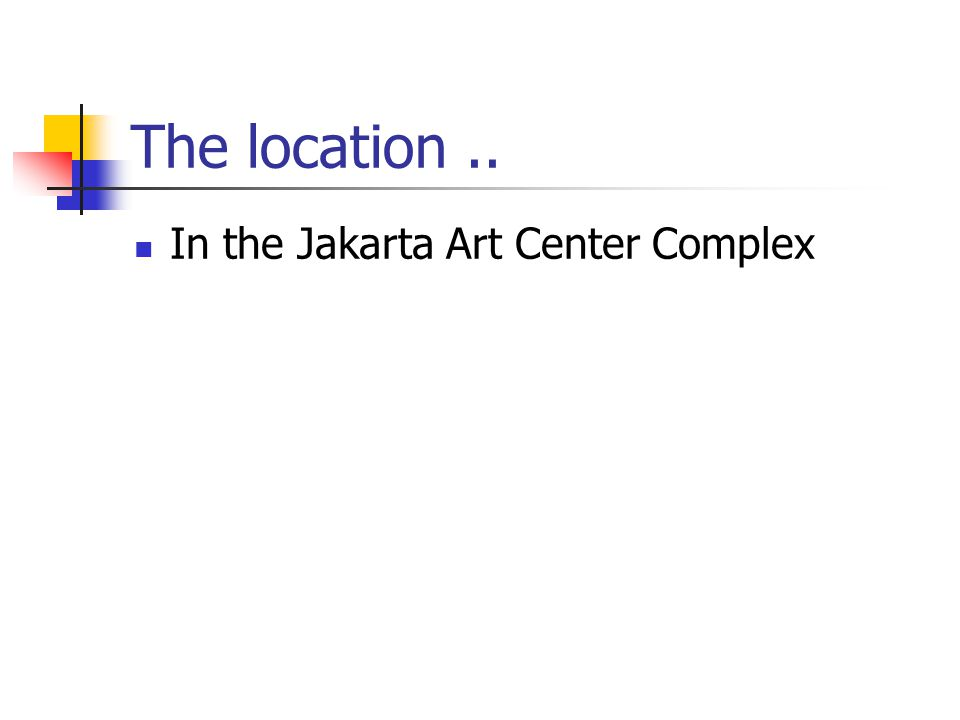The location.. In the Jakarta Art Center Complex