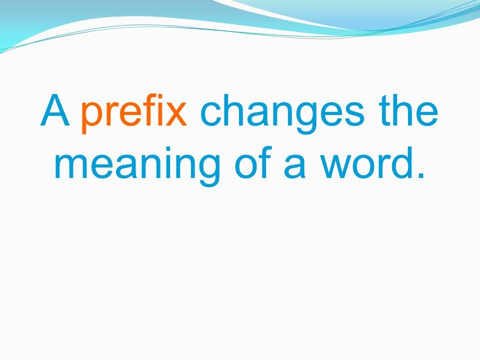PrefixesMeaningexamples 1.Anti 2. Auto 3. Bi 4. Ex 5.