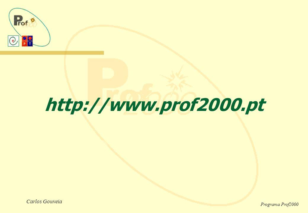 Carlos Gouveia Programa Prof2000 http://www.prof2000.pt