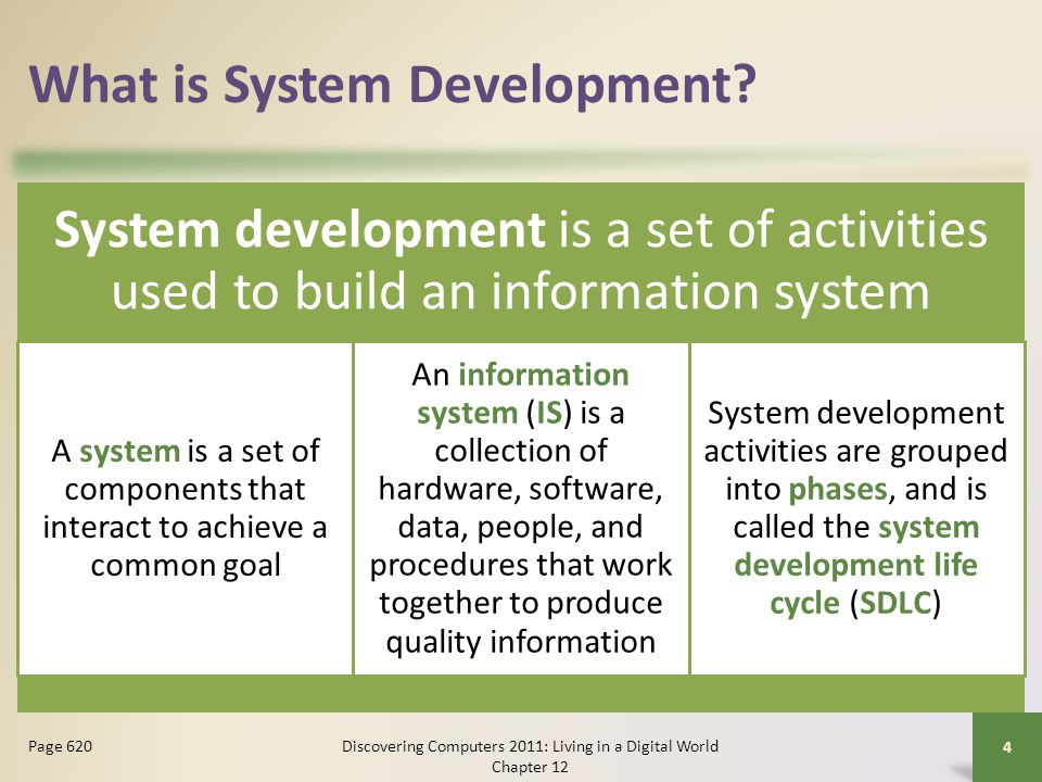 Design Phase Computer-aided software engineering (CASE) tools are designed to support one or more activities of system development CASE tools sometimes contain the following tools: Discovering Computers 2011: Living in a Digital World Chapter 12 35 Page 642 Project repository GraphicsPrototyping Quality assurance Code generator Housekeeping Click to view Web Link, click Chapter 12, Click Web Link from left navigation, then click CASE Tools below Chapter 12