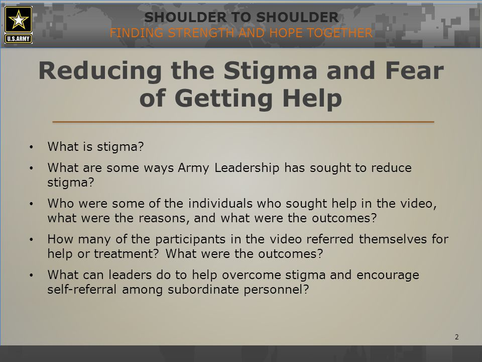 SHOULDER TO SHOULDER FINDING STRENGTH AND HOPE TOGETHER The Importance of Resilience What is resilience.