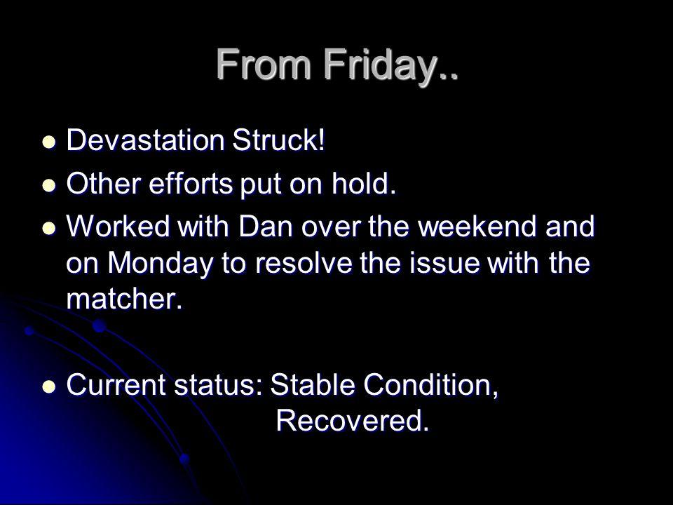 From Friday.. Devastation Struck. Devastation Struck.