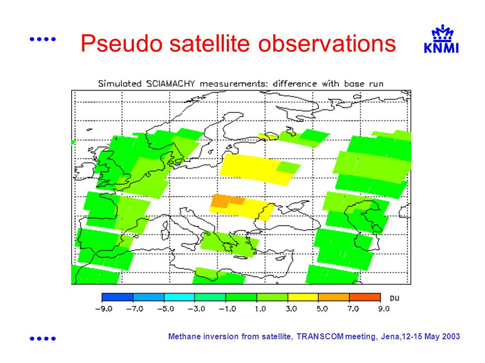 Methane inversion from satellite, TRANSCOM meeting, Jena,12-15 May 2003 Pseudo satellite observations
