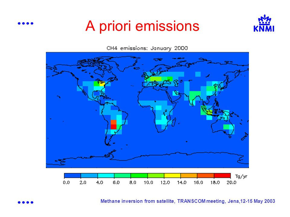 Methane inversion from satellite, TRANSCOM meeting, Jena,12-15 May 2003 A priori emissions