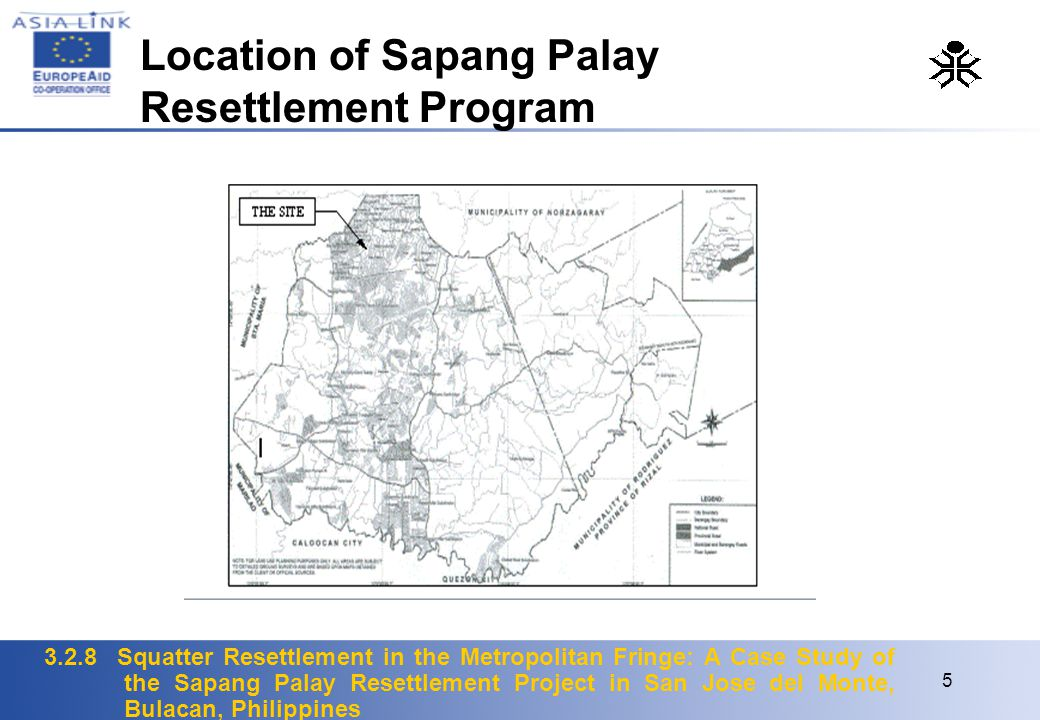 3.2.8 Squatter Resettlement in the Metropolitan Fringe: A Case Study of the Sapang Palay Resettlement Project in San Jose del Monte, Bulacan, Philippi