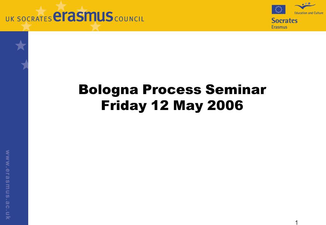 1 Bologna Process Seminar Friday 12 May 2006