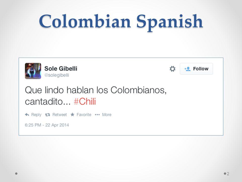 Colombian Spanish 2