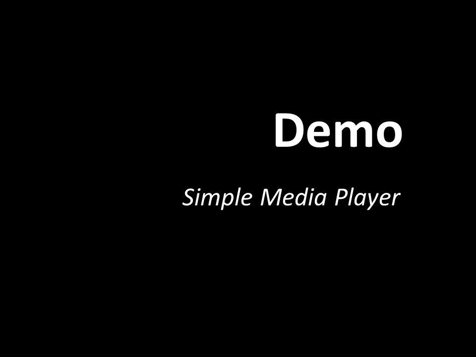 Demo Simple Media Player