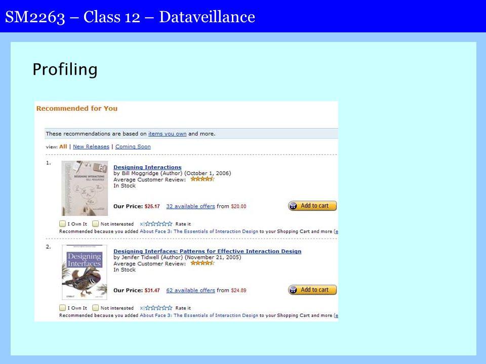 SM2263 – Class 12 – Dataveillance Profiling