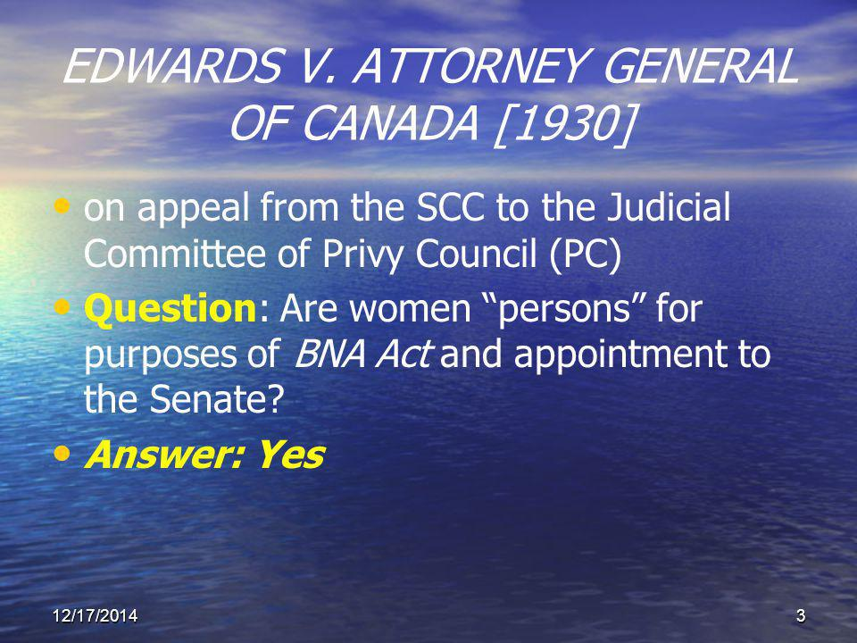 EDWARDS V.ATTORNEY GENERAL OF CANADA [1930] By sec.