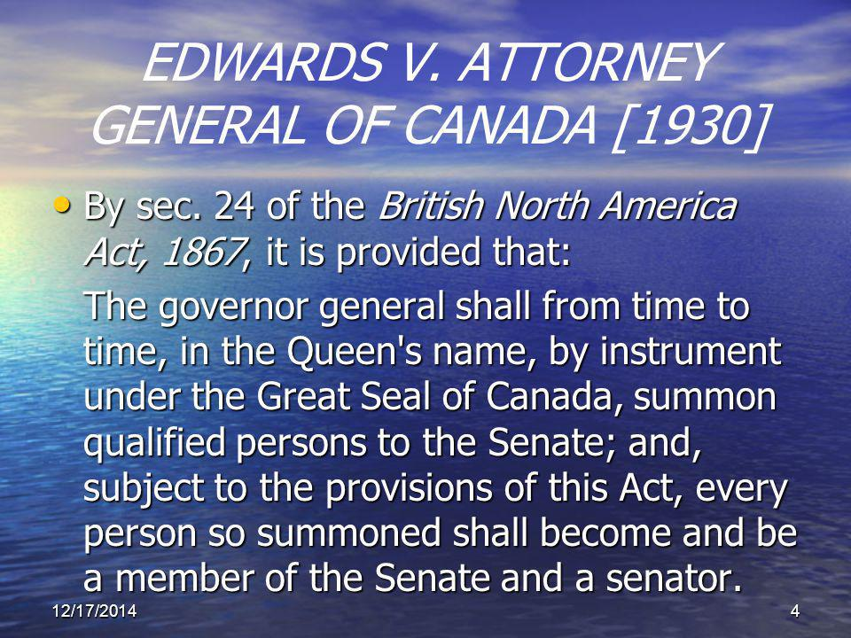 EDWARDS V. ATTORNEY GENERAL OF CANADA [1930] By sec.