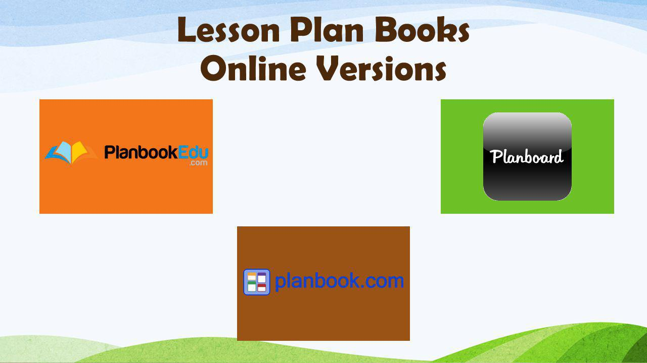 Lesson Plan Books Online Versions