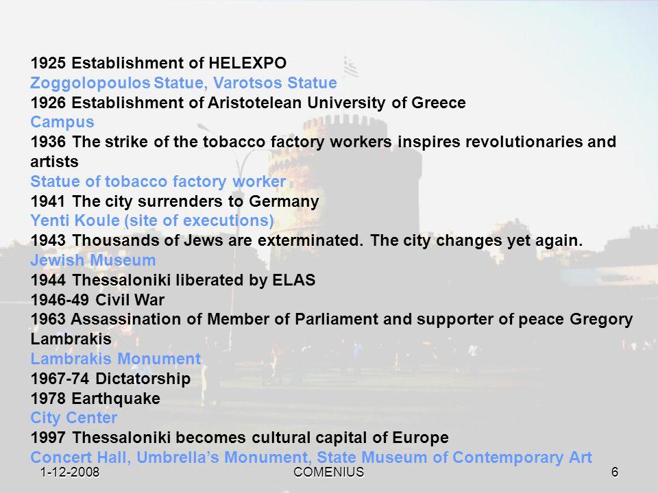 1-12-2008COMENIUS5 316 BC Hellenistic era.