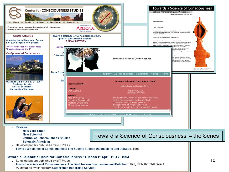 2007.04.12.Consciousness in the Body - Basler Lecture IV 10 Toward a Science of Consciousness – the Series