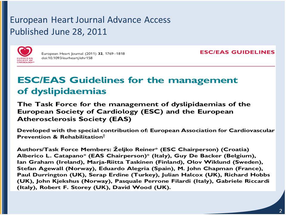 2 European Heart Journal Advance Access Published June 28, 2011